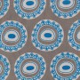 Byzantine Circle Design in blue on grey background