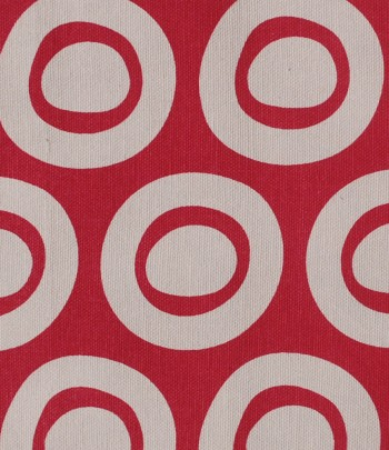 Plain Circle Design in bright rose on pale grey background