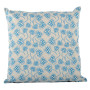 Chinese Flower cushion cover in blue on pale grey - Square (50cm x 50cm, 60cm x 60cm)