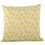 Chinese Flower cushion cover in celery on pale grey - Square (50cm x 50cm, 60cm x 60cm)