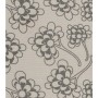Chinese Flower Design - Detail in dark grey on pale grey