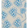 Chinese Flower Design - Detail in blue on pale grey