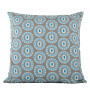 Byzantine Circle cushion cover in blue on dark grey - Square (50cm x 50cm, 60cm x 60cm)