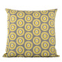 Byzantine Circle cushion cover in celery on dark grey - Square (50cm x 50cm, 60cm x 60cm)