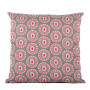 Byzantine Circle cushion cover in pink rose on dark grey - Square (50cm x 50cm, 60cm x 60cm)