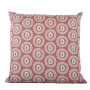 Byzantine Circle cushion cover in dark grey on nostalgic pink - Square (50cm x 50cm, 60cm x 60cm)