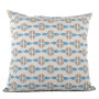 Vine cushion cover in blue and dark grey on pale grey - Square (50cm x 50cm, 60cm x 60cm)