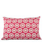 Plain Circle cushion cover in bright rose on pale grey - Rectangle (60cm x 40cm)