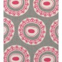 Byzantine Circle - Detail in bright rose on dark grey