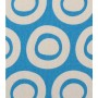 Plain Circle Design - Detail in blue on pale grey