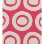 Plain Circle Design - Detail in bright rose on pale grey
