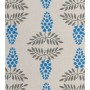 Vine Design - Detail in blue and dark grey on pale grey