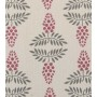 Vine Design - Detail in nostalgic pink and dark grey on pale grey