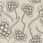 Featured image of Chinese Flower cotton canvas in dark grey on pale grey