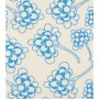 Chinese Flower Design - Detail in blue on pale grey.