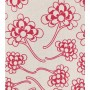 Chinese Flower Design - Detail in bright rose on pale grey