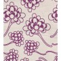 Chinese Flower Design - Detail in grape on pale grey