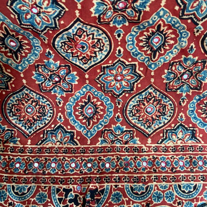 Ajarakh Modal Silk Mirrors with Pattern 2
