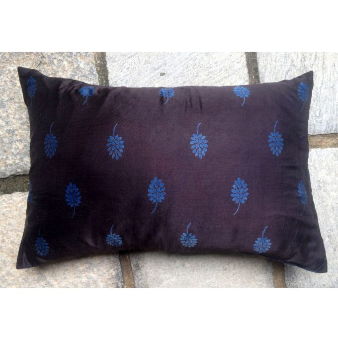 POS Small Tree Silk Cushion BlackBlue 60x40
