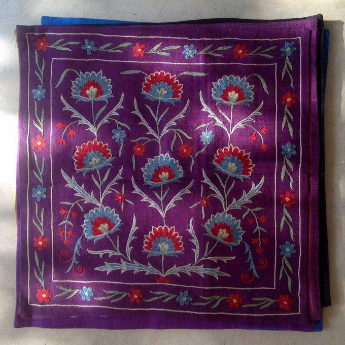 POS Turkish Handembroidered Silk Cushion 50x50
