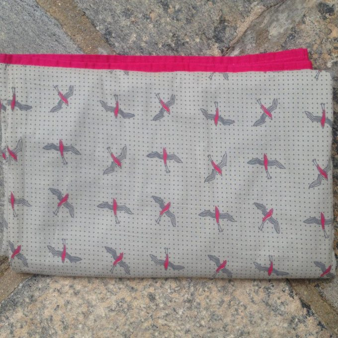 POS 0007 Baby Quilt Bird Brightrose