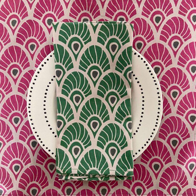 Tableware Combo Feather Fuchsia Red Juniper