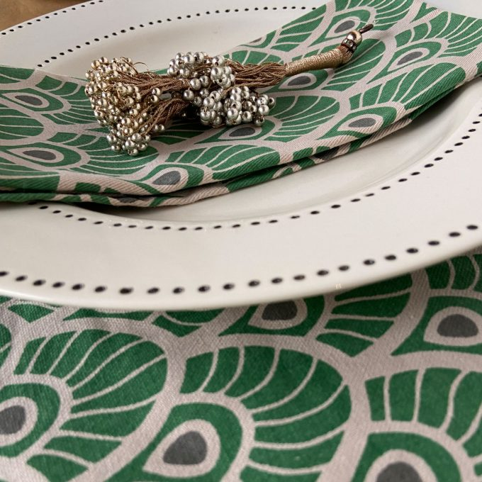 Tableware Combo Placemat Feather Juniper