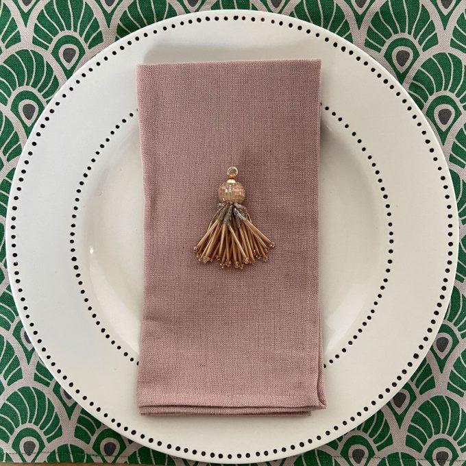 Tableware Combo Placemat Feather Juniper Napkin Plain