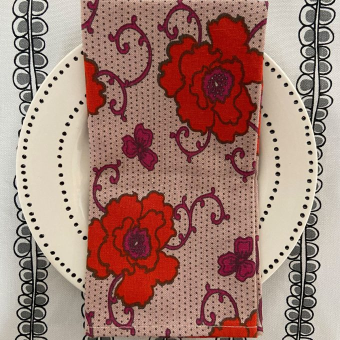 Tableware Combo Placemat Seed SL Napkin Russian Flower