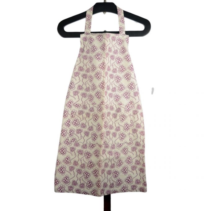Tallentire House Apron Chinese Flower Grape Wine