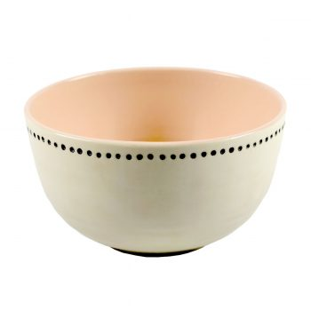 Tallentire House Bowl Horizontal Dots Pink