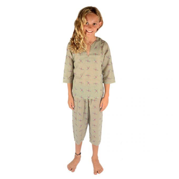Tallentire House Children Pyjama Bird Bright Rose