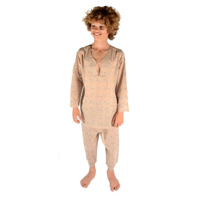 Tallentire House Children Pyjama Bird Chalk Blue