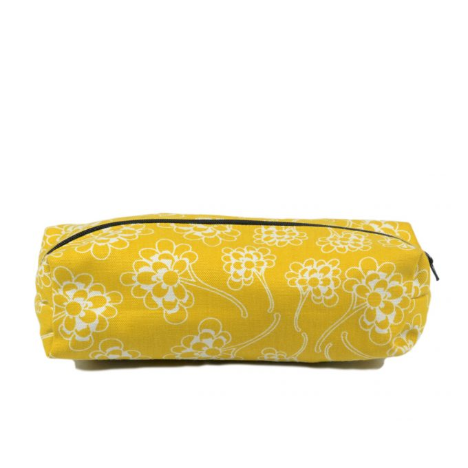 Tallentire House Cosmetics Purse Chinese Flower Celery Inverse