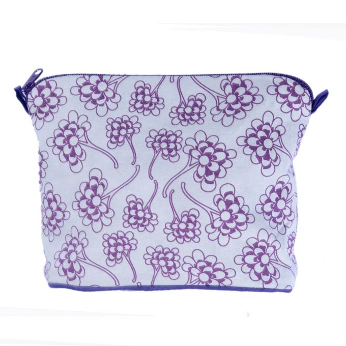 Tallentire House Cosmetics Purse Large Chinese Flower Grape Wine