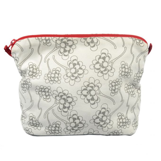 Tallentire House Cosmetics Purse Large Chinese Flower Wild Dove
