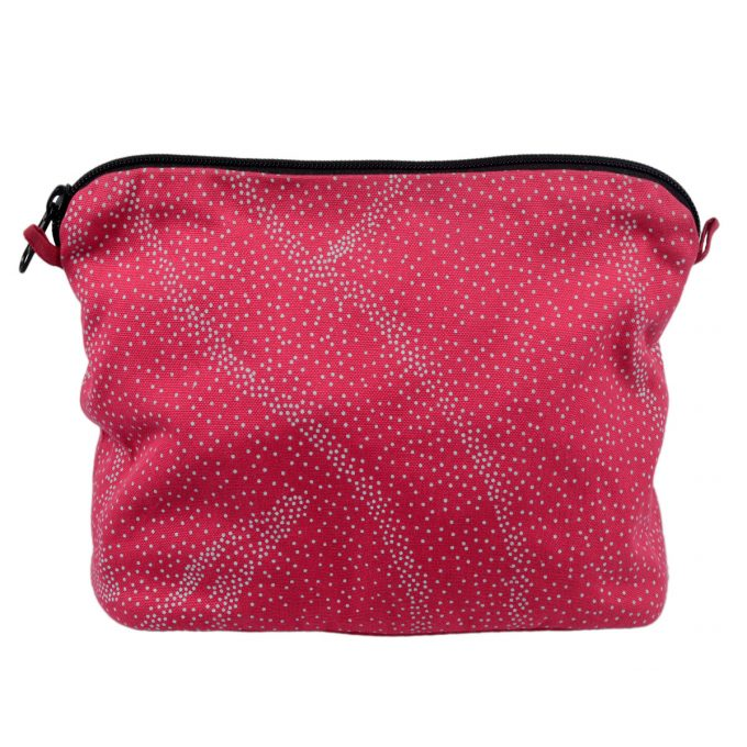 Tallentire House Cosmetics Purse Large Dots Bright Rose