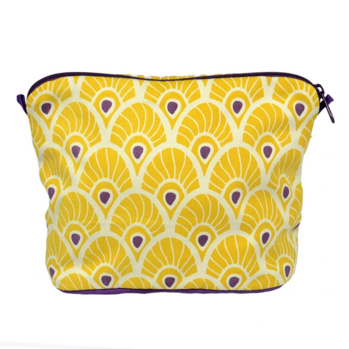 Tallentire House Cosmetics Purse Large Feather Oil Yellow