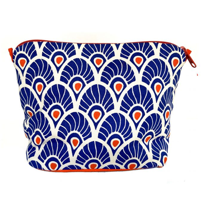 Tallentire House Cosmetics Purse Large Feather Surf the Web
