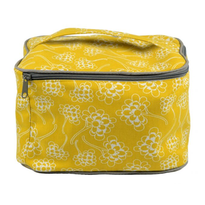 Tallentire House Cosmetics Purse Vanity Chinese Flower Celery Inverse