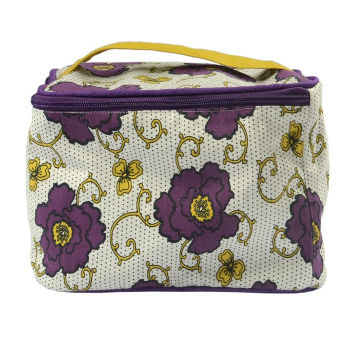 Tallentire House Cosmetics Purse Vanity Russian Flower Grape Wine Oil Yellow