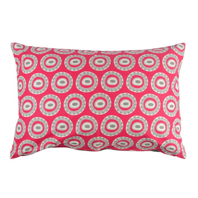 Tallentire House Cushion 60x40 Byzantine Circle Bright Rose Wild Dove