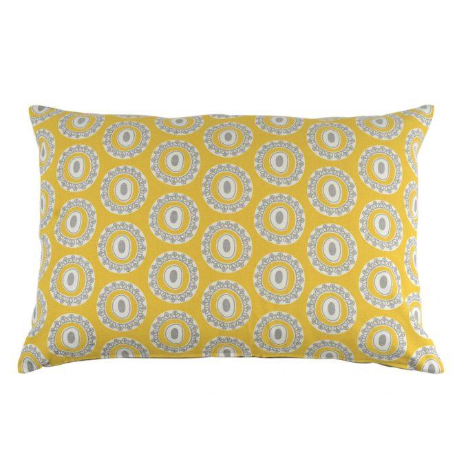 Tallentire House Cushion 60x40 Byzantine Circle Celery Wild Dove