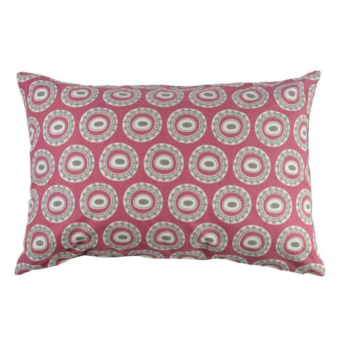 Tallentire House Cushion 60x40 Byzantine Circle Nostalgic Pink