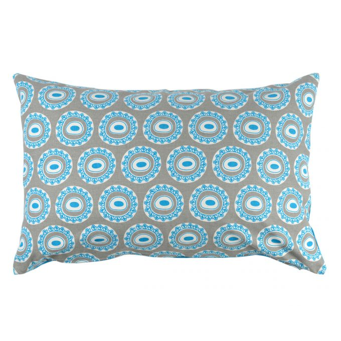 Tallentire House Cushion 60x40 Byzantine Circle Wild Dove Blue