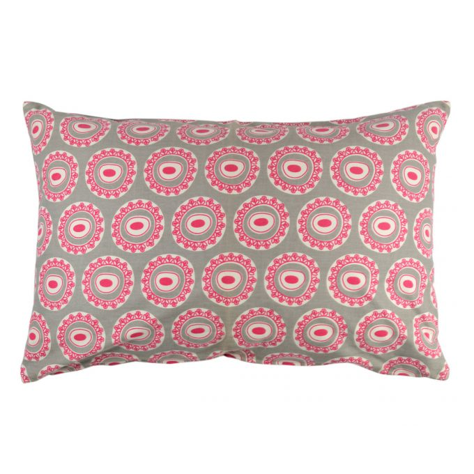 Tallentire House Cushion 60x40 Byzantine Circle Wild Dove Bright Rose