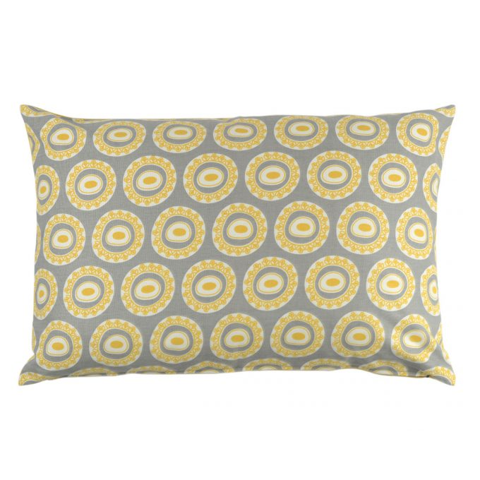Tallentire House Cushion 60x40 Byzantine Circle Wild Dove Celery