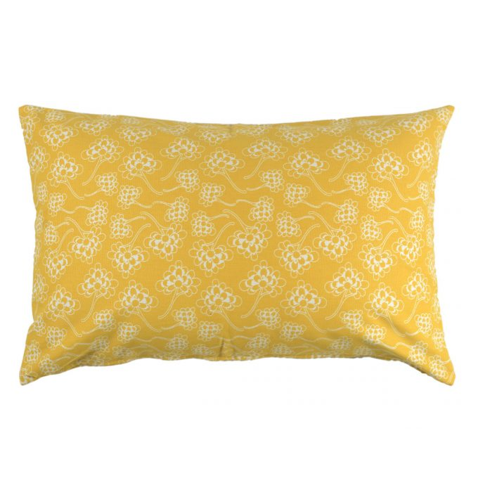 Tallentire House Cushion 60x40 Chinese Flower Celery Inverse