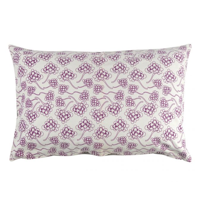 Tallentire House Cushion 60x40 Chinese Flower Grape Wine