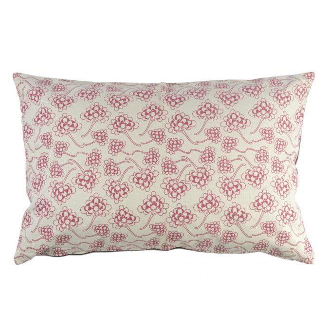 Tallentire House Cushion 60x40 Chinese Flower Nostalgic Pink